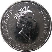 25 Cents - Elizabeth II (April) – obverse