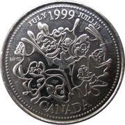 25 Cents - Elizabeth II (July) – reverse