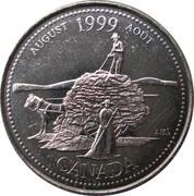 25 Cents - Elizabeth II (August) -  reverse