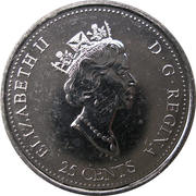 25 Cents - Elizabeth II (December) -  obverse