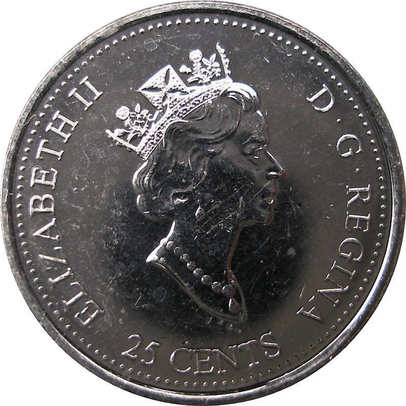 Canada 1999 Millennium November Gem Mint 25 Cent Coin ID#J22.