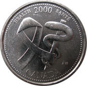 25 Cents - Elizabeth II (Health) – reverse