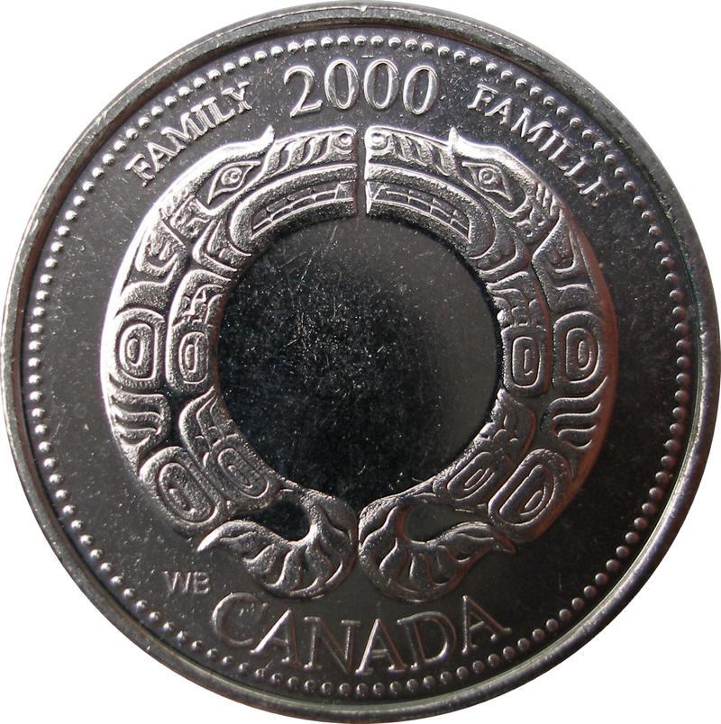 $1.00 W 2000 Canadian Prooflike Loonie