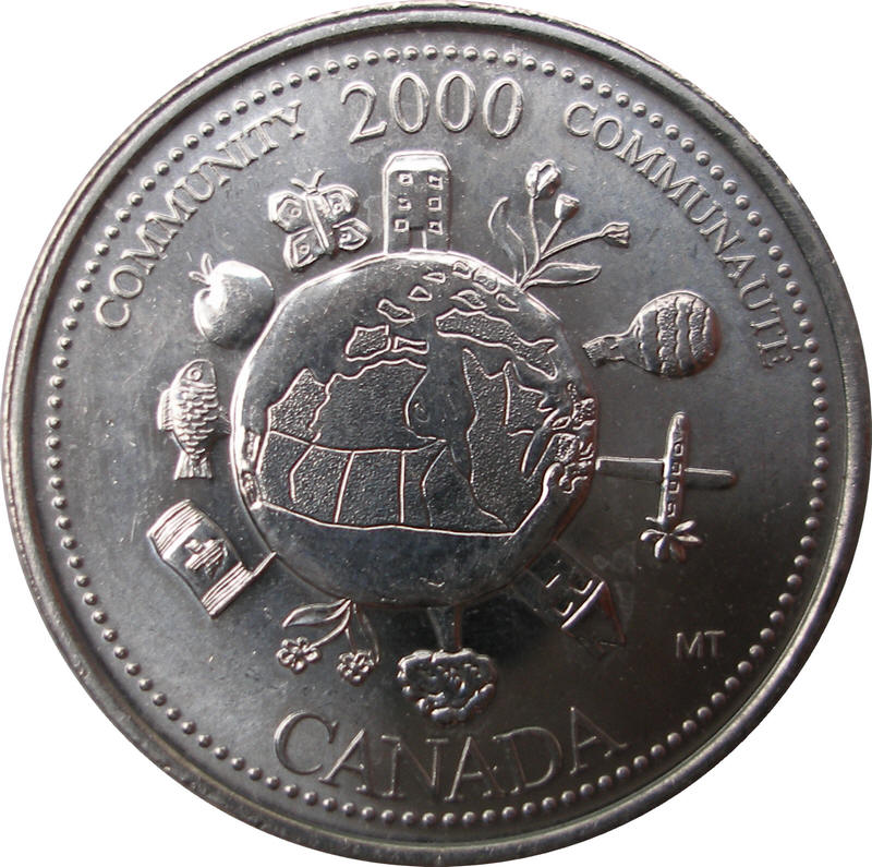 Twenty-Five Cents 2000W CANADA 25 CENTS PROOF-LIKE COIN