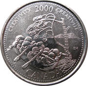 25 Cents - Elizabeth II (Creativity) -  reverse