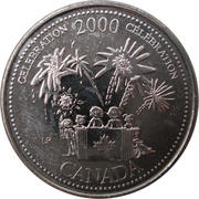 25 Cents - Elizabeth II (Celebration) -  reverse