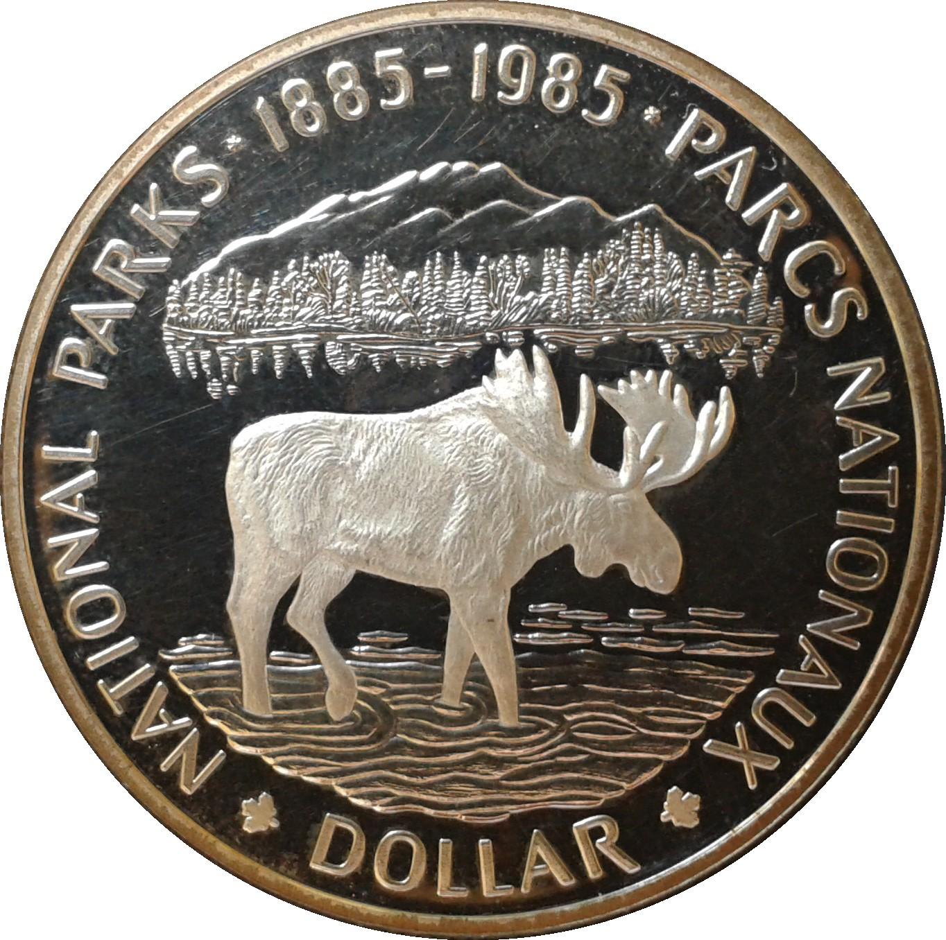 1 Dollar Elizabeth Ii National Parks Canada Numista