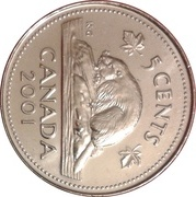 5 Cents - Elizabeth II (3rd portrait; magnetic) -  reverse