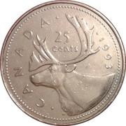 25 Cents - Elizabeth II (3rd portrait) -  reverse