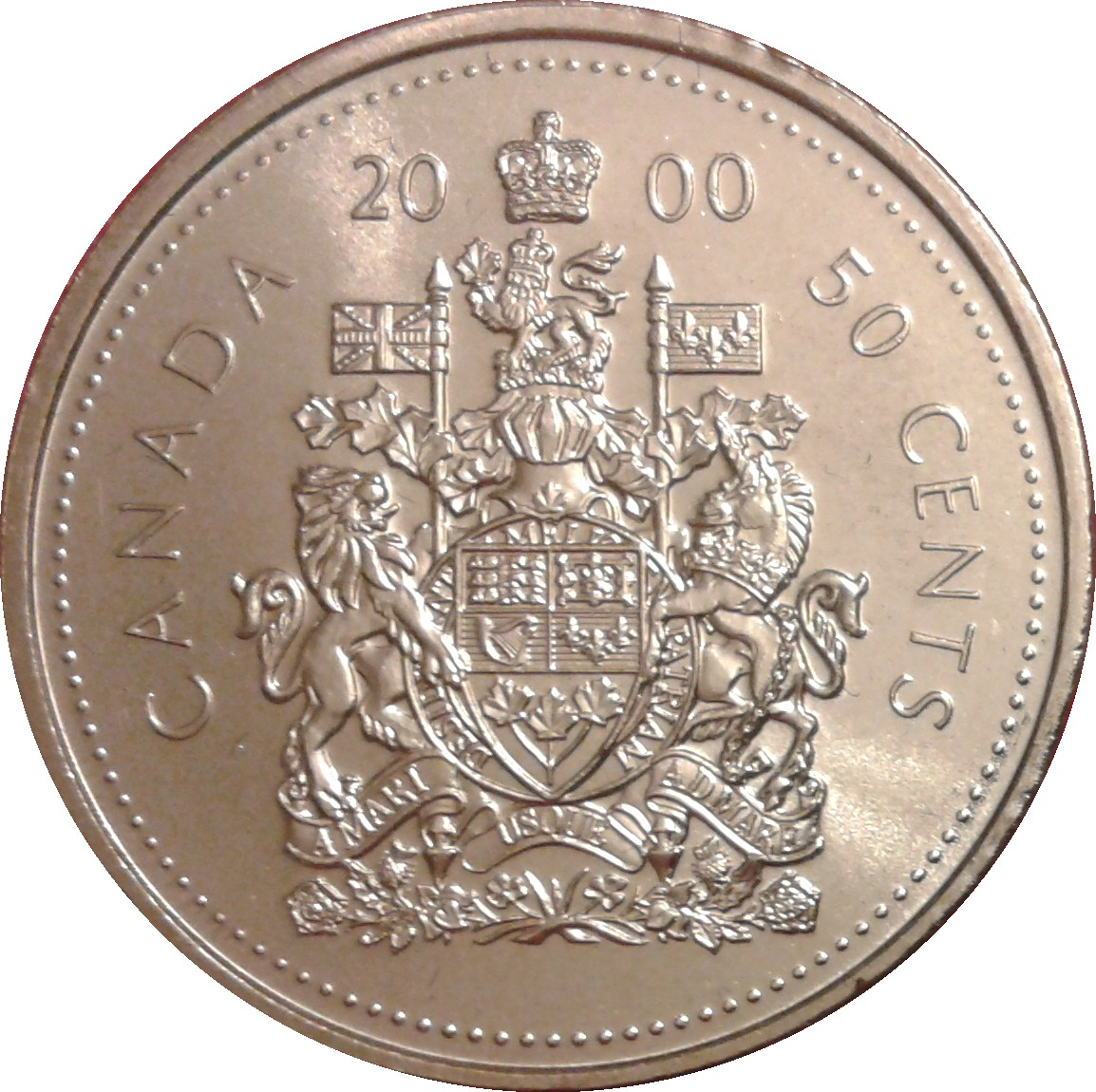 50 cents elizabeth ii revised coat of arms canada u2013 numista
