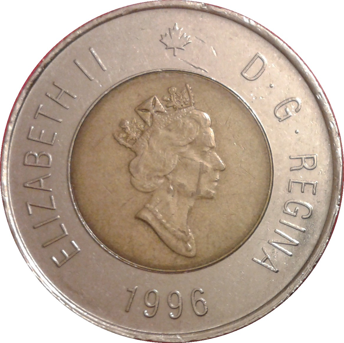 Circulated 2 Dollars -Knowledge- Canadian Coin 2000 Toonie Canada