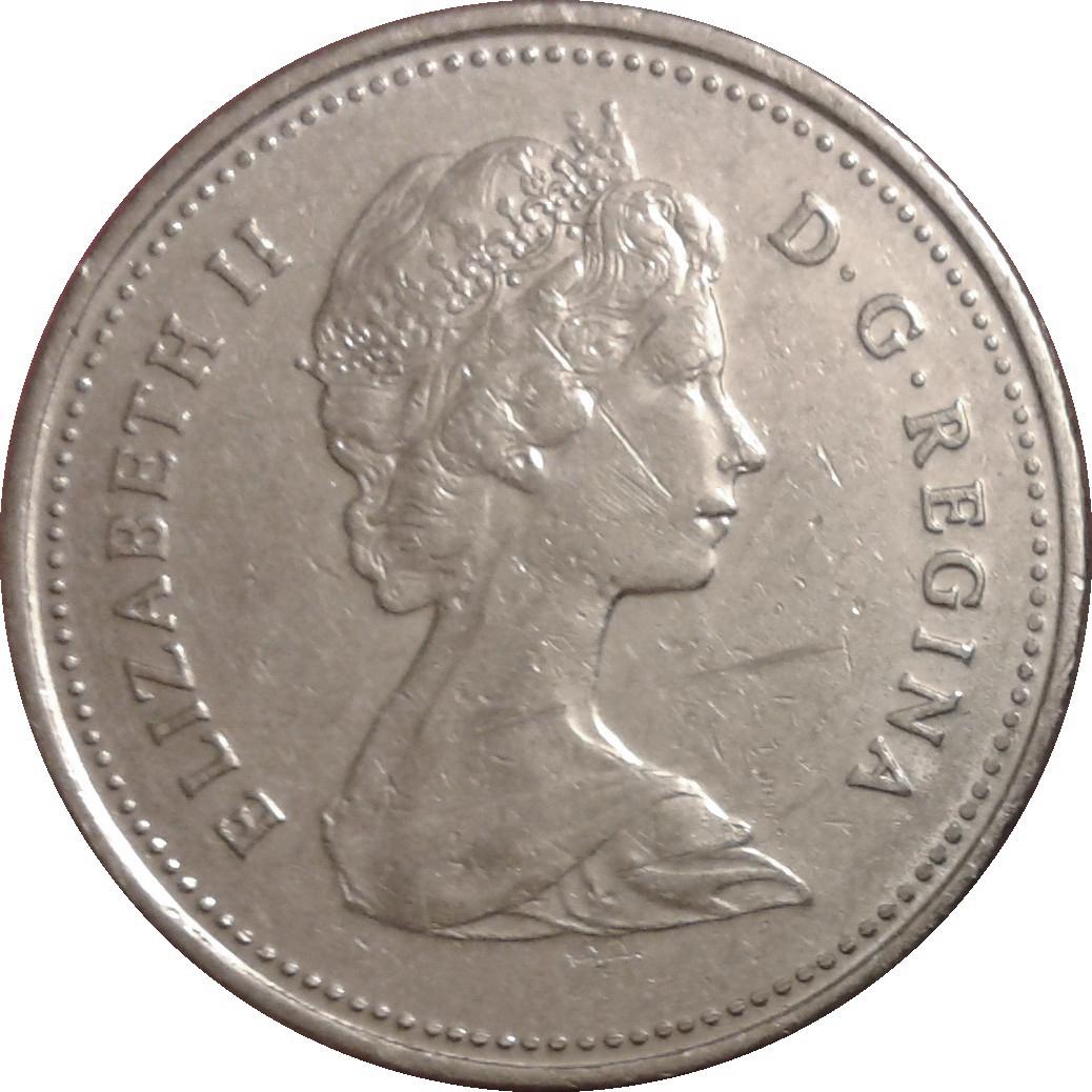 1980 Canadian Prooflike Nickel Dollar $1.00