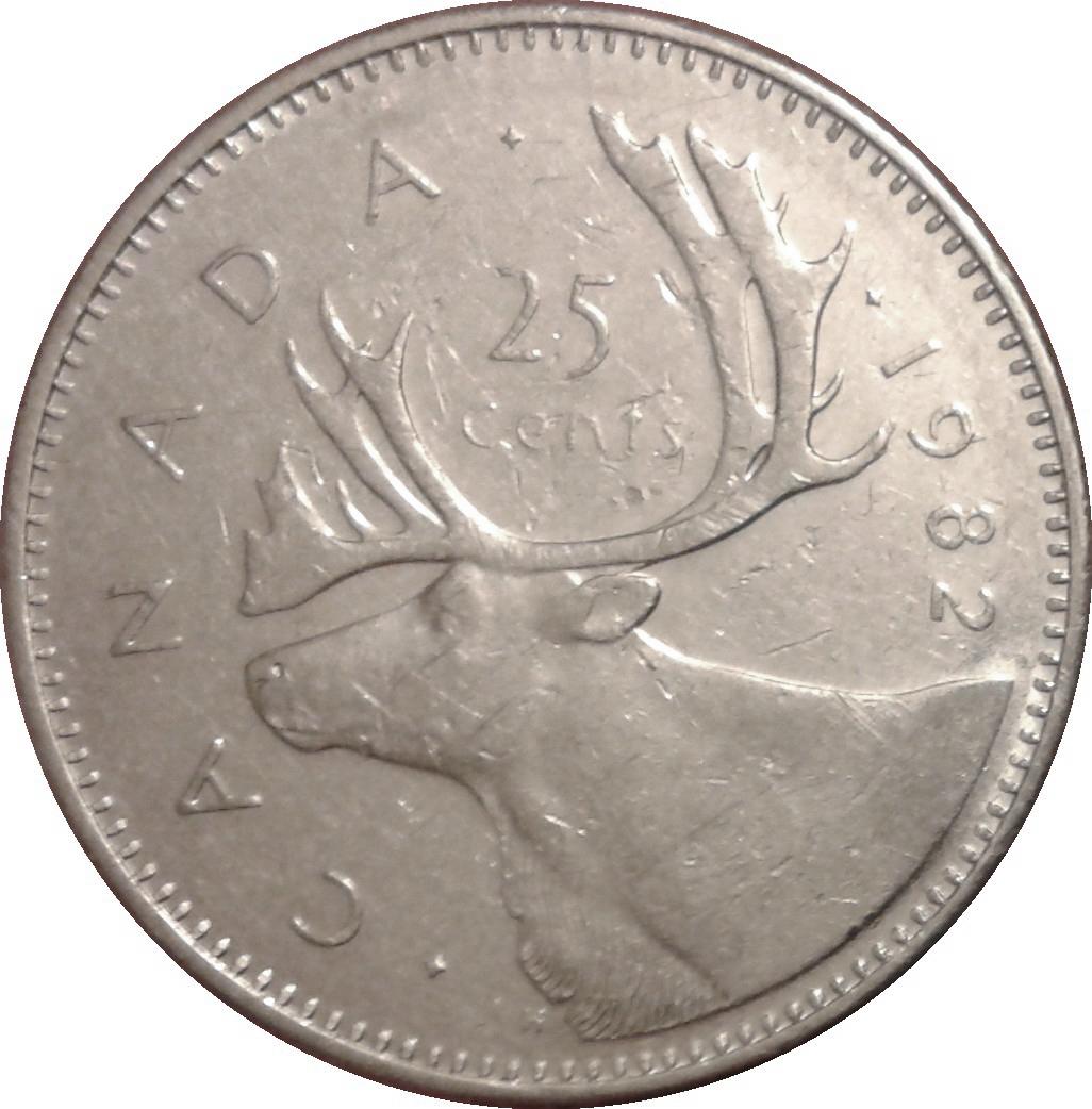 25 Cents Elizabeth Ii 2nd Portrait Canada Numista