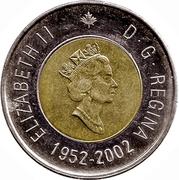 2 Dollars - Elizabeth II (Golden Jubilee) -  obverse