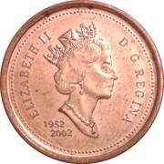1 Cent - Elizabeth II (Golden Jubilee) -  obverse