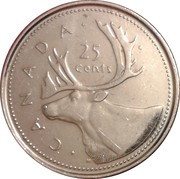 25 Cents - Elizabeth II (Golden Jubilee) -  reverse