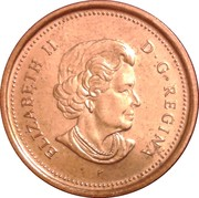 1 Cent - Elizabeth II (4th portrait; magnetic) – obverse