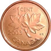 1 Cent - Elizabeth II (4th portrait; magnetic) – reverse