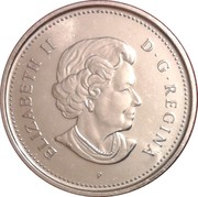 5 Cents - Elizabeth II (4th portrait; magnetic) -  obverse