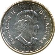 5 Cents - Elizabeth II (4th portrait; non-magnetic) -  obverse