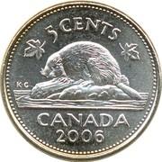 5 Cents - Elizabeth II (4th portrait; non-magnetic) -  reverse