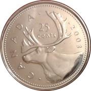 25 Cents - Elizabeth II (4th portrait) -  reverse