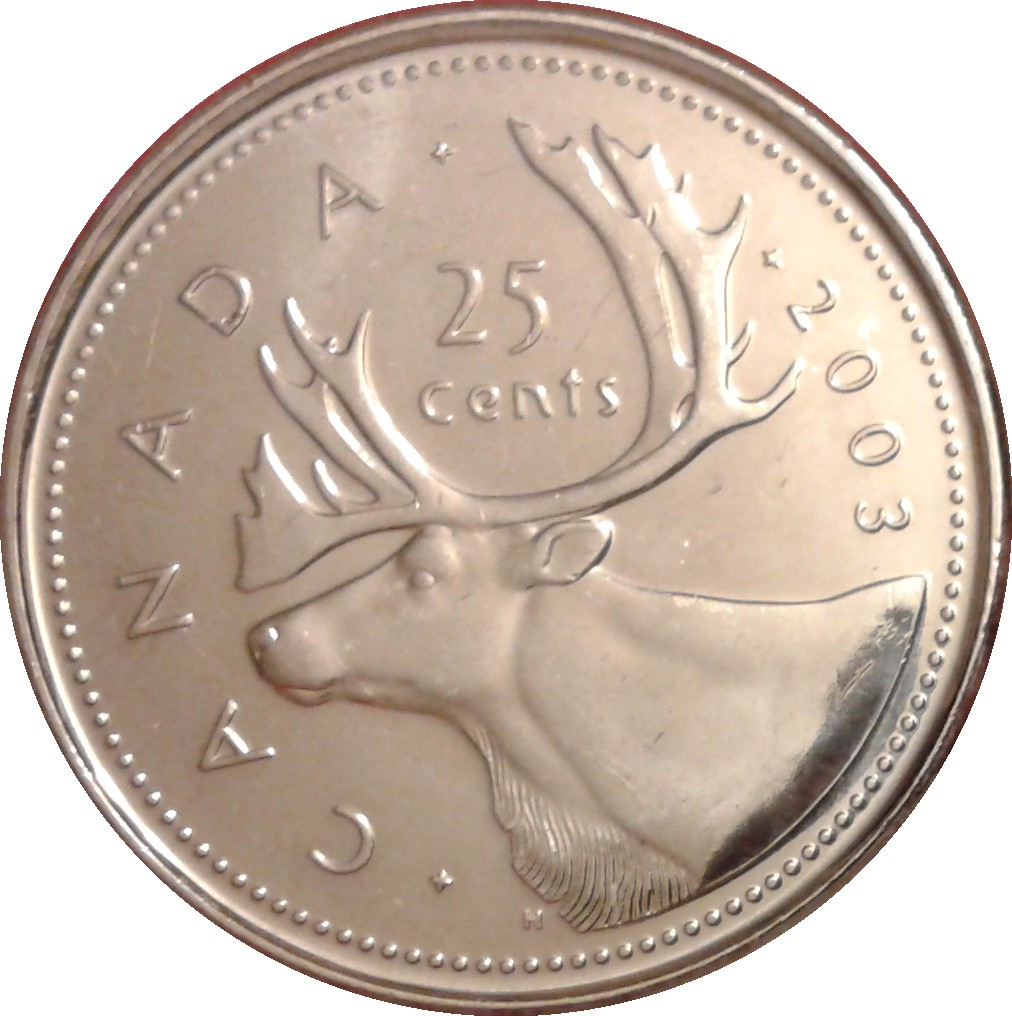 2018 CANADA 25 CENTS PROOF-LIKE QUARTER COIN