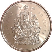 50 Cents - Elizabeth II (4th portrait) -  reverse