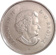 5 Cents - Elizabeth II (Victory Anniversary) -  obverse