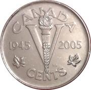5 Cents - Elizabeth II (Victory Anniversary) -  reverse