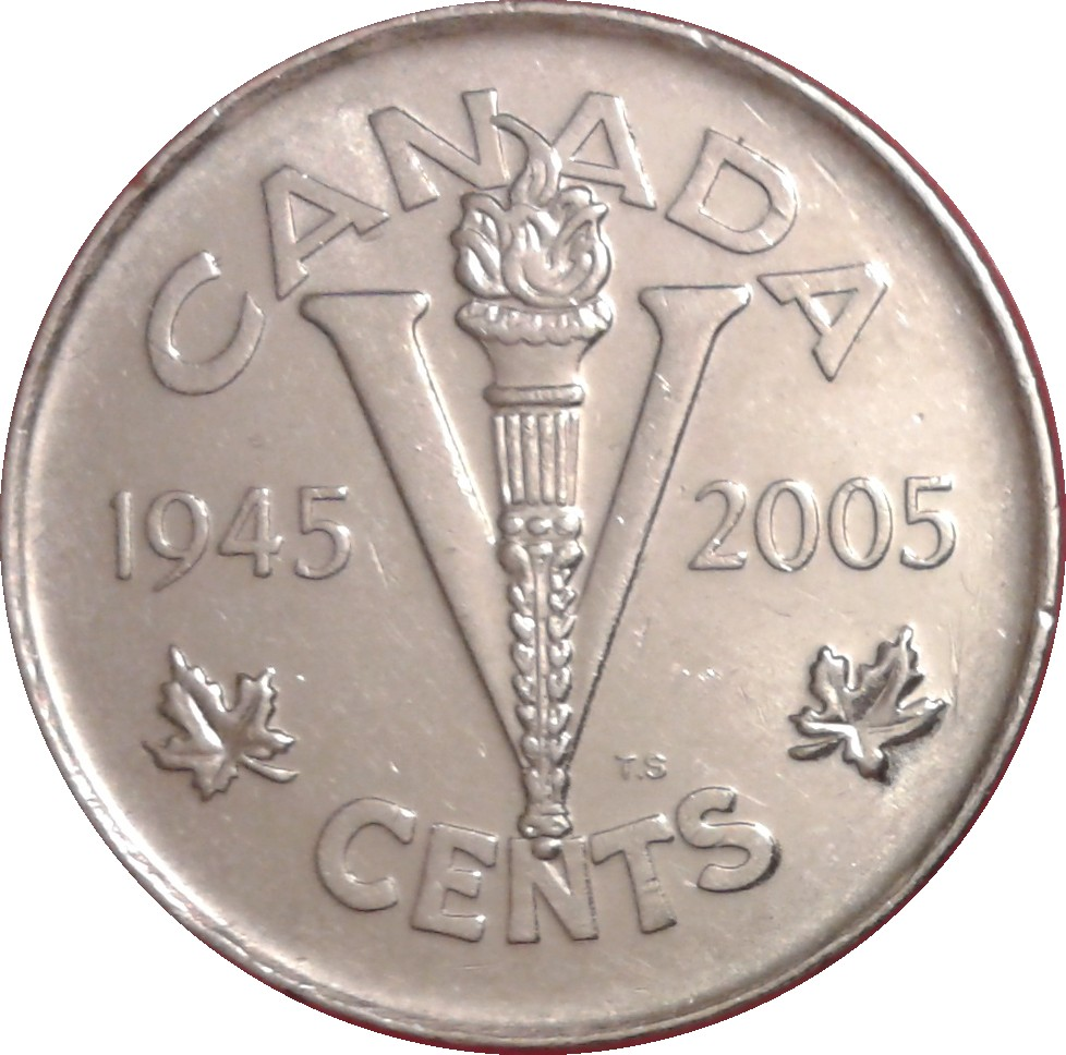5 Cents Elizabeth Ii Victory Anniversary Canada Numista
