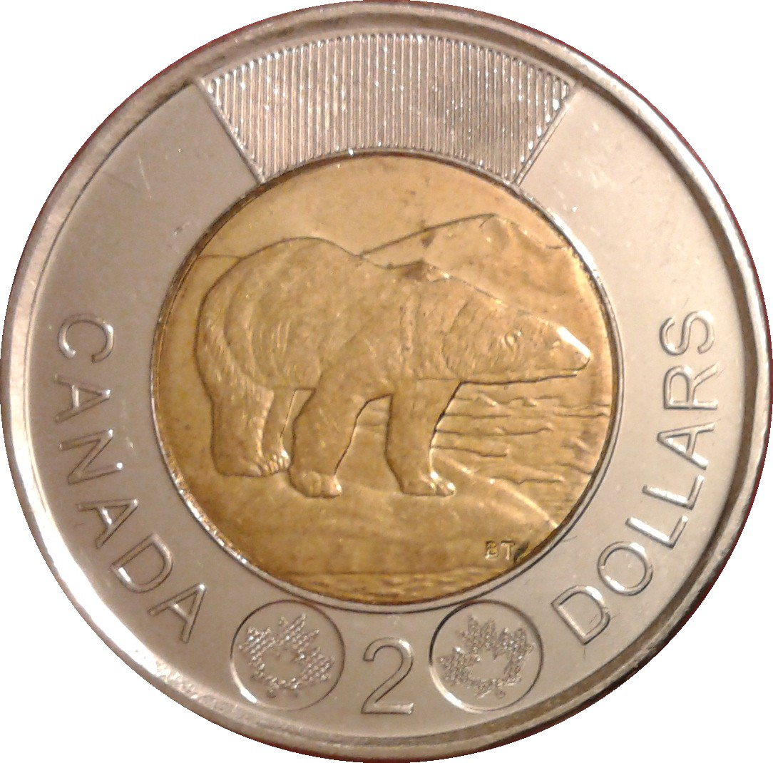 BU UNC Canada 2013 Toonie $2 Dollar Coin from mint roll