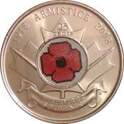 25 Cents - Elizabeth II (Armistice Day) -  reverse