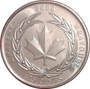 25 Cents - Elizabeth II (Medal of Bravery) -  reverse