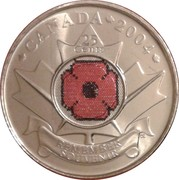 25 Cents - Elizabeth II (Remembrance Day) -  reverse