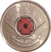 25 Cents - Elizabeth II (Remembrance Day) -  reverse