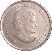 25 Cents - Elizabeth II (Men's Ice Hockey) -  obverse