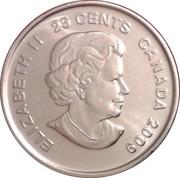 25 Cents - Elizabeth II (Women's Ice Hockey) -  obverse