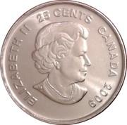 25 Cents - Elizabeth II (Cindy Klassen) -  obverse