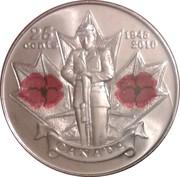 25 Cents - Elizabeth II (Remembrance) -  reverse