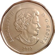 1 Dollar - Elizabeth II (100th CFL Grey Cup) -  obverse