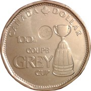 1 Dollar - Elizabeth II (100th CFL Grey Cup) -  reverse