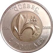 2 Dollars - Elizabeth II (Quebec City) -  reverse