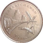 25 Cents - Elizabeth II (Saskatchewan) -  reverse