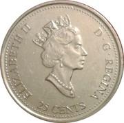 25 Cents - Elizabeth II (January) -  obverse