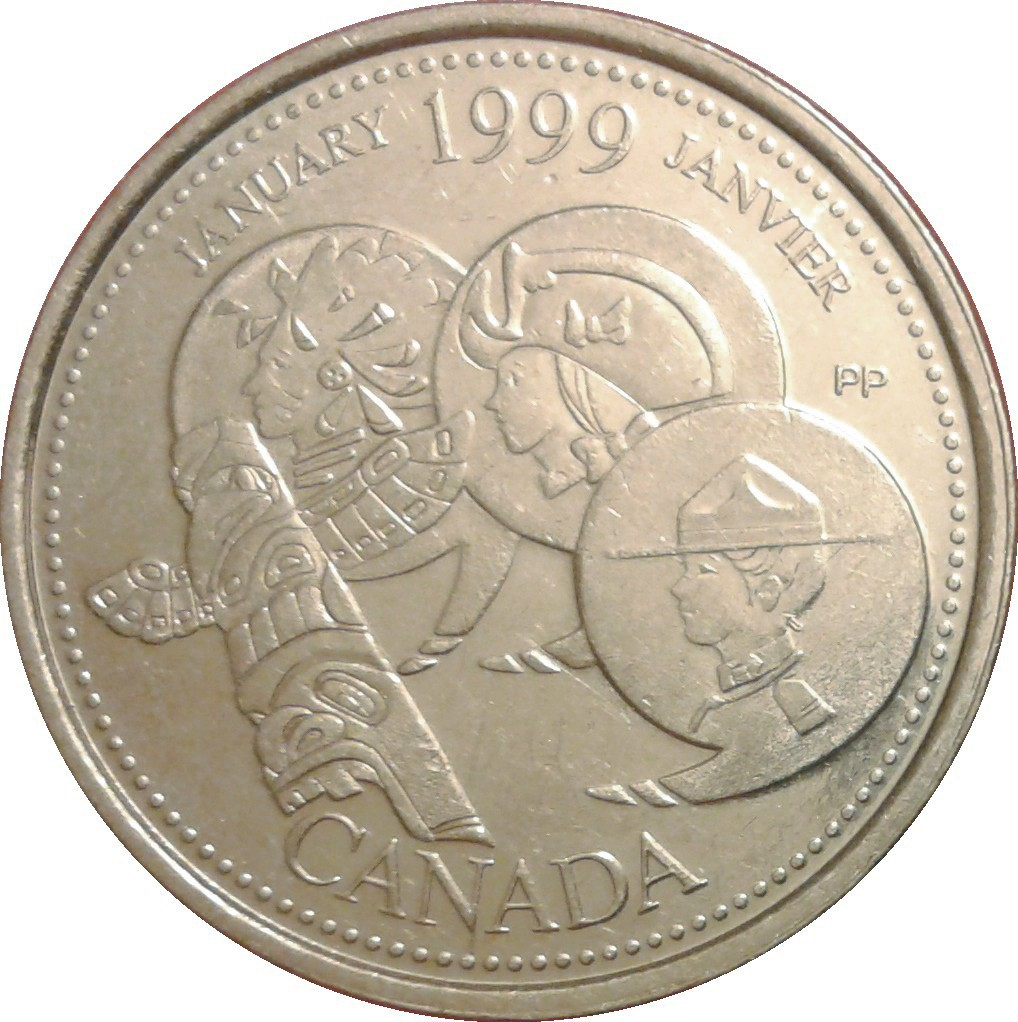 1999 Canada Millennium Series April 25 Cents Gem BU UNC Quarter!!