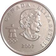 25 Cents - Elizabeth II (Curling) – obverse