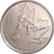 25 Cents - Elizabeth II (Curling) -  reverse