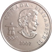 25 Cents - Elizabeth II (Ice hockey) -  obverse