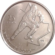 25 Cents - Elizabeth II (Ice hockey) -  reverse